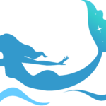 Logo mermaid blue